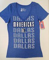 Dallas Mavericks Womens Short Sleeve Mesh Burnout T-Shirt   SZ Med   NWT