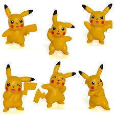 Set of 6 Pokemon Pikachu Toys Figures Desk Decortion Party Favor Figurines Kit