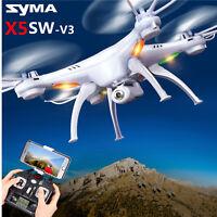 Syma X5SW-V3 WIFI FPV RC Quadcopter Drone With HD Camera 2.4Ghz 4CH Drone White