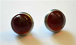 """Very Cool Vintage Style 3/8"""" Glass Jewel Reflectors - Set of 2"""