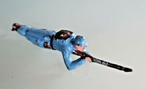 Toy Old Soldier Lead Hollow Puller Lying 14/18
