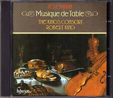 TELEMANN Musique de Table Music ROBERT KING'S CONSORT CD Hyperion Tafelmusik