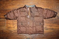 GAP Warmest Winter Puffer Jacket Coat Brown Baby 12 18 Months Used