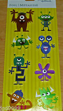 Hallmark Foil Stickers Silly Monster Aliens 1 Sheet 8 Pieces Free Ship Over $15