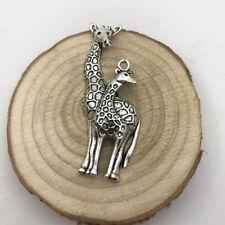 1pcs Giraffe Charm Tibetan Silver Tone Pendant  Charms Pendants 54x19mm