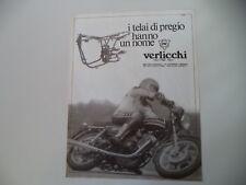 advertising Pubblicità 1980 VERLICCHI e MOTO MORINI 500