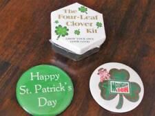 "St. Patrick's Day & Mountain Dew 3"" Pinbacks~Four-Leaf Clover Kit"