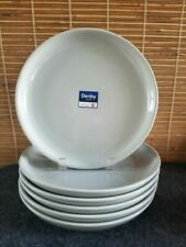 Denby Intro Soft Grey Coupe Dinner Plate England