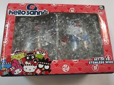 Hello Kitty ~Sanrio~ 2 Stemless Wine Drinking Glasses~ New In Box~ CUTE!