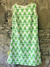 1960's Vested Gentress Ladies Dress Frog Print Gem Size 12