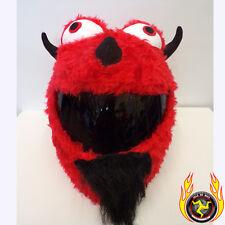 Red Devil Funny Heeds Crazy Crash Helmet Cover