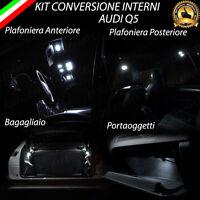 KIT LED INTERNI AUDI Q5 8R PLAFONIERA ANTERIORE+POST+PORTAOGGETTI+BAG. CANBUS