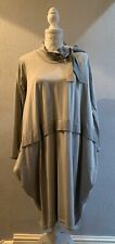 Quirky Made In Italy Lagenlook Oversized Pussy Bow Dress One Size Fits 14-20 NWT
