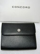 New In Box CONCORD (Watch Co.)Black Pebbled Leather Key Ring ~Unisex