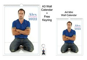 Alex O'Loughlin 2022 A3 A4 Wall Office Calendar + Key Ring