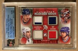 2011 ITG Fall Expo Ultimate Franchise Jerseys Carbonneau/Roy/Chelios/Naslund /25