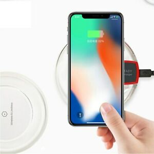 Mini Portable Chargers Crystal Wireless Charger Receiver Wireless Charging Pad