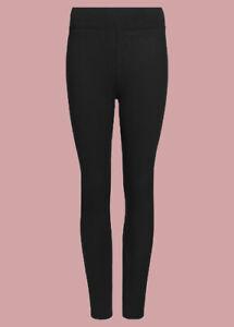Ex M*S Cotton Rich High Waist Leggings Navy Black All Sizes 2 Lengths (H3)