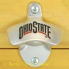 Ohio State Buckeyes Wall Mount Bottle Opener Zinc Alloy NCAA Licensed, NEW!!!
