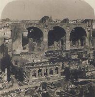 Roma Forum Basilique Da Constantin Italia Stereo Vintage Analogica