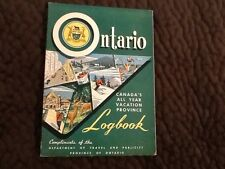 Vintage Canada Ontario Logbook Book Not Used