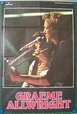GRAEME ALLWRIGHT – ORIGINAL POSTER – LARGE SIZE - VERY RARE - 1973