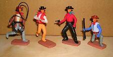 Plasty 4x Figur Cowboys Lasso Wild West Airfix Western Billy (7)