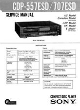 Sony CDP-557ESD Service Manual CDP557 ESD CDP 557