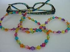 Rainbow Bead Spectacle Glasses Cord for Eyewear Includes spare replacemet ends!