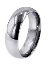 Save $800 Men'S Domed Platinum 7 Mm Wedding Band Ring 1.14 Mm Thick Polished New