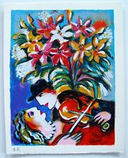 """ZAMY STEYNOVITZ """"SERENADE WITH A KISS"""" Limited Edition Lithograph"""
