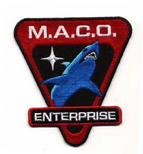"Star Trek Enterprise MACO Shark 3.75"" Uniform Patch- FREE S&H (STPAT-ENT4)"