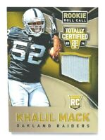 2014 Totally Certified Khalil Mack Jersey RC, GOLD Rookie Roll Call #/25 Raiders