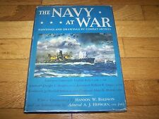 THE NAVY AT WAR PAINTING & DRAWINGS BY COMBAT ARTIST 1943 WORLD WAR 2 II NICE!