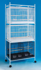 "4 Tiers Stand for 30""x18""x18"" Size Aviary Bird Cages T813 Black-248"