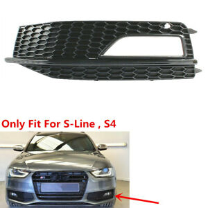 2X Front Fog Light Grille Grill Cover Black /&Red Fit For AUDI A4 S-Line S4 13-15