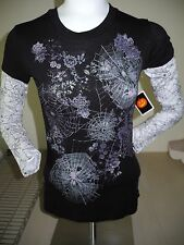 SPIDERWEB SPIDERS  2 FER TEE JUNIORS SMALL NEW WITH TAG!