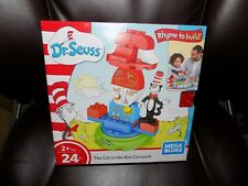 Dr.Seuss Mega Bloks The Cat in the Hat Carousel 24 pieces NEW FREE USA SHIPPING