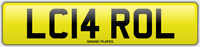 Carol number plate L CAROL CHERISHED CAR REGISTRATION LC14 ROL ALL FEES INCLUDED