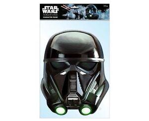 Mort Trooper Officiel Star Wars Rogue Un Simple 2D Carte Fête Face Masque Sci Fi