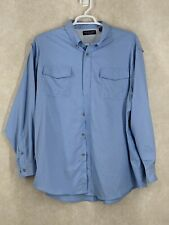 Roundtree And York Vented size xxl Long Sleeve Shirt mesh blue