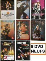 █ JOHNNY HALLYDAY : LOT  UNIQUE de 8 DVD NEUFS ! (des heures de concert & bonus)