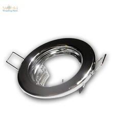 5x Copertura Cornice per incasso Cromo Lampada da MR16 GU5,3 fisso Faretto MR 16