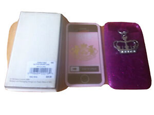 Iphone 4 Juicy Couture Pink Glitter Case  with Crown Charm