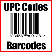 (50) UPC Codes Barcode Number GS1 Certified Amazon
