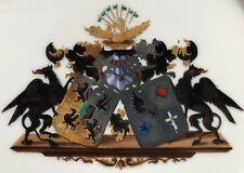 Doppelwappen Adel ELTZ & HAESELER  Porzellan Wappenteller 19.Jhdt, KPM Berlin