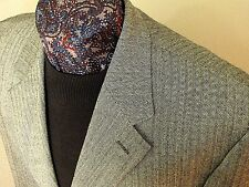 Ralph Lauren Chaps NWOT 3 btn black gray herringbone wool sportcoat 44 R