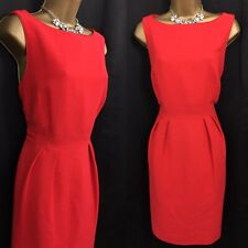 COAST Dress Size 16 RED Shift Occasion Evening Party C790
