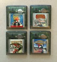 Nintendo Game Boy Color Video Game Lot of 4 Games: Tony Hawk, Looney Tunes, Etc.