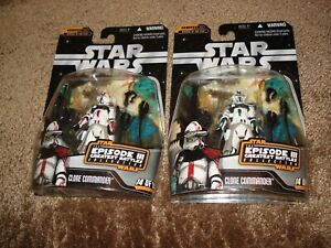 """STAR WARS (LOT OF 2) """"BOTH CLONE COMMANDERS GREATEST BATTLES"""" GREEN & RED WHITE"""
